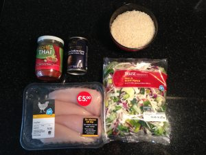 ingredienten voor glutenvrije thaise curry