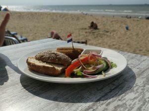 glutenvrije kroket aan het strand