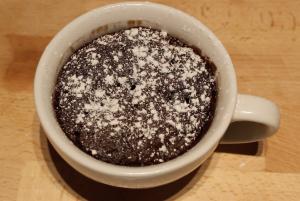 Glutenvrije mugcake resultaat