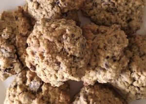 glutenvrije chocolate chip banana cookies