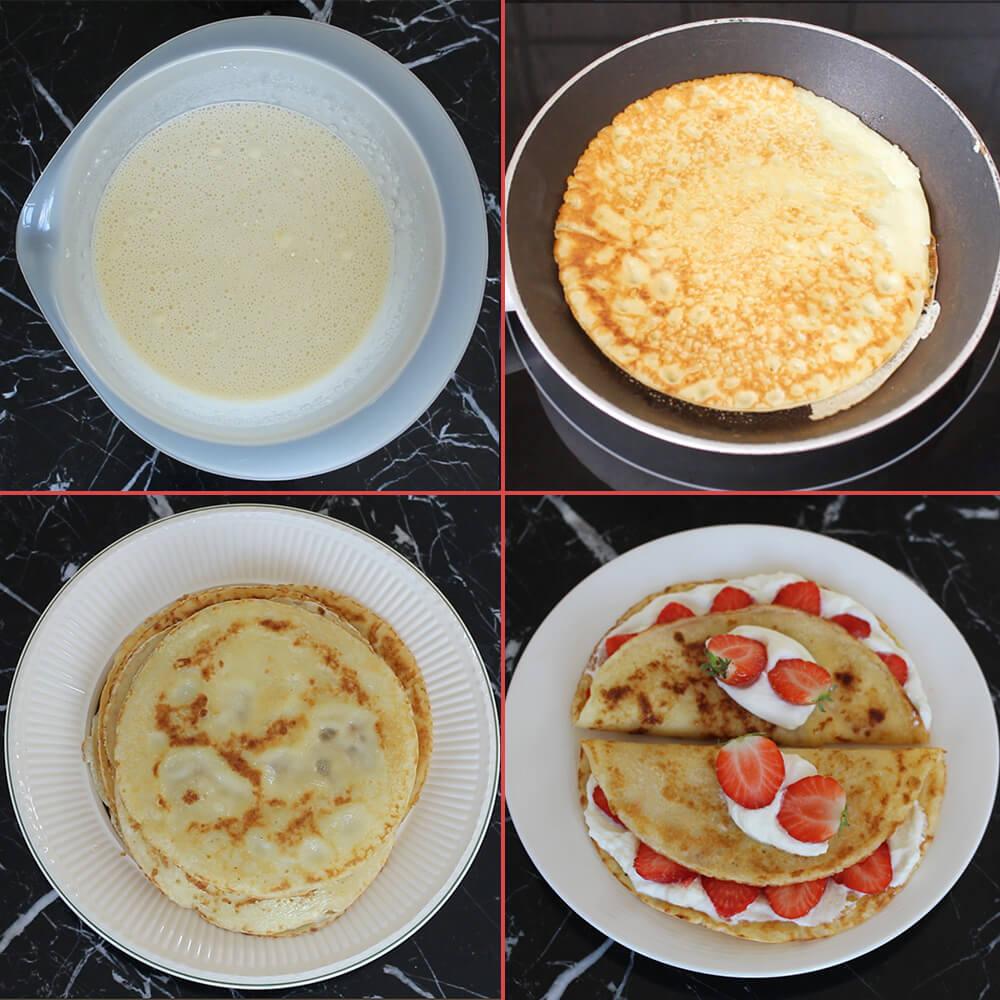 glutenvrije pannenkoeken recept collage