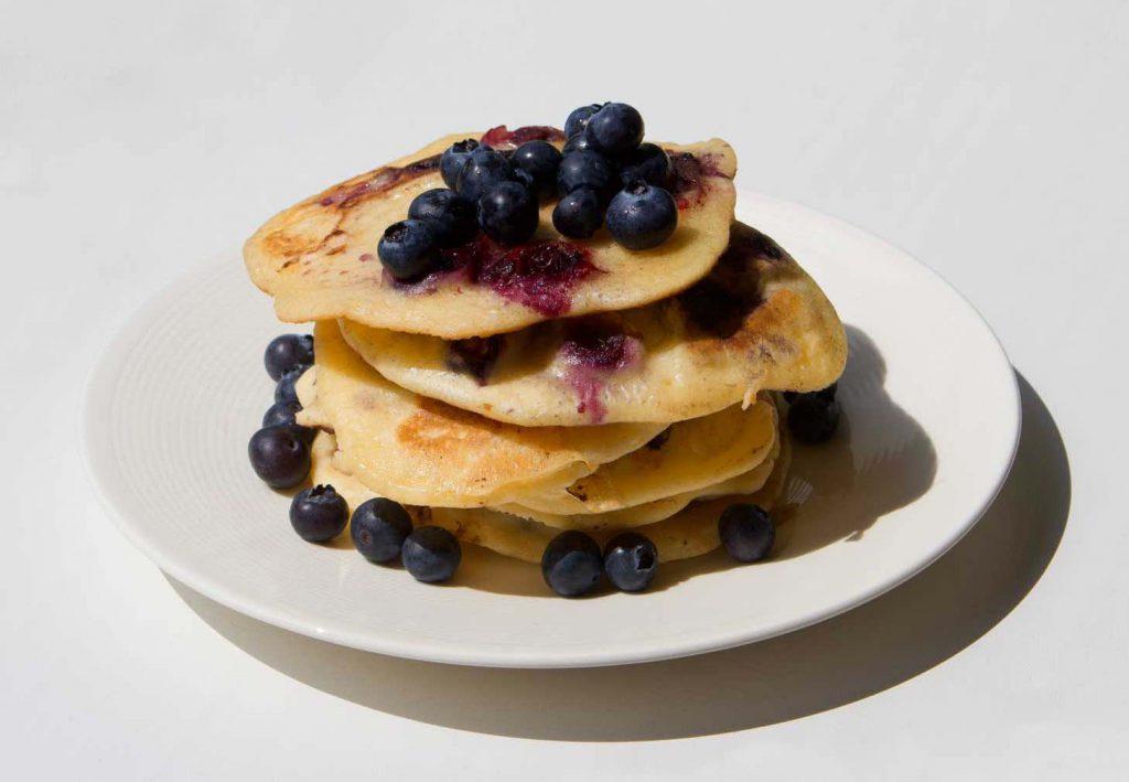 Glutenvrije blueberry pancakes